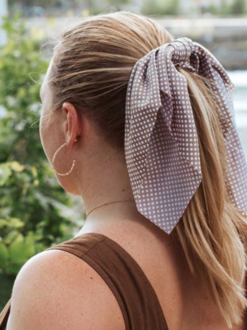 Hair Tie Scarf Scrunchie Polka Dotted