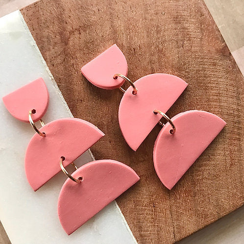 Tiered Polymer Clay Earrings