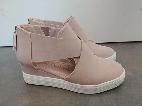 Tan Sneaker Wedges