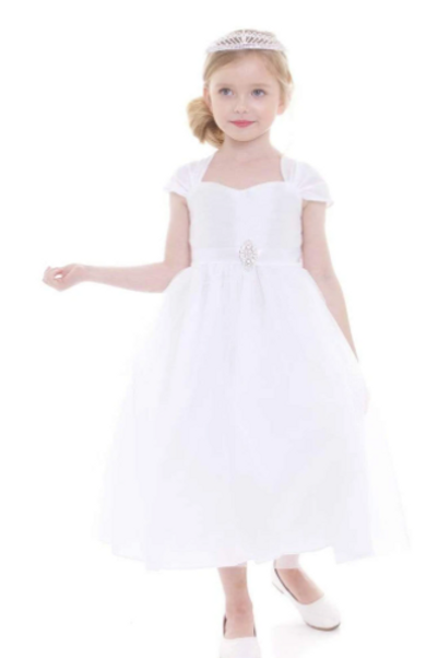 Sweetheart Neck Flowergirl/First Communion Dress