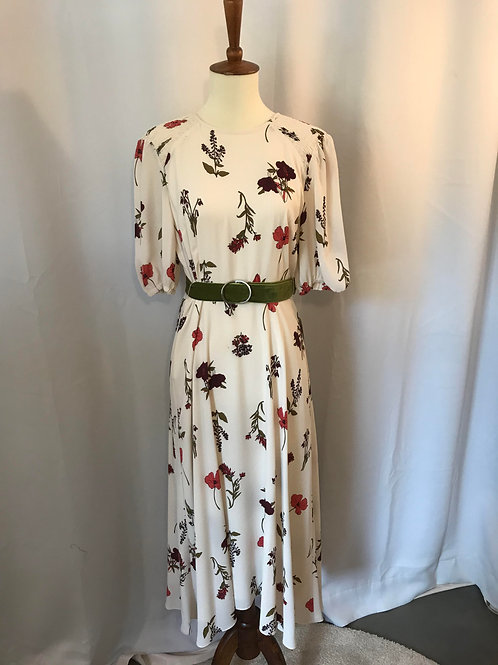 Ivory Botanical Dress