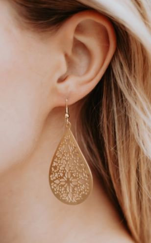 Gold Lace Earring