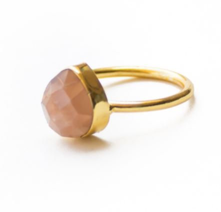 Gold Ring with Cut Stone
