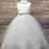 Thumbnail: Beaded Neck & Waist Flowergirl Dress