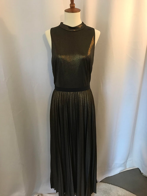 Black Gold Metallic Midi