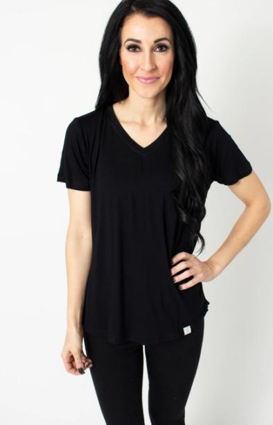 Black V-Neck Tee Shirt