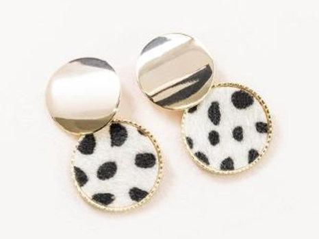 Cheetah Double Circle Earrings