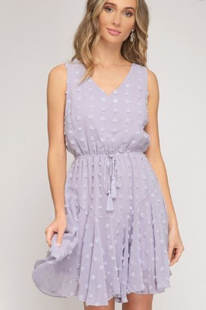 Lilac Dotted Swiss Dress