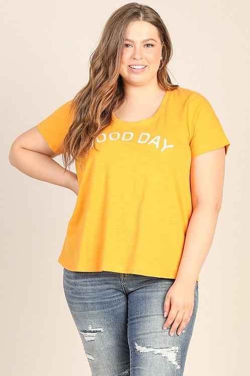 """""""Good Day"""" Embroidered Tee"""