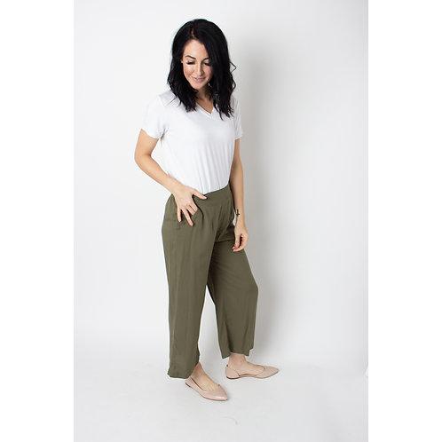 Olive Wide Leg Pant