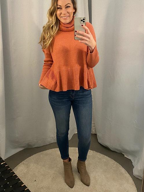 The Peplum Sweater