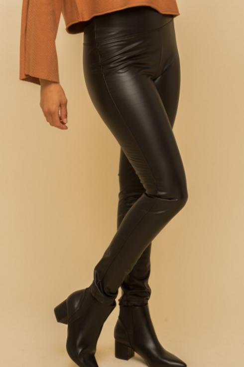 Faux Leather, Fleece Lined Leggings