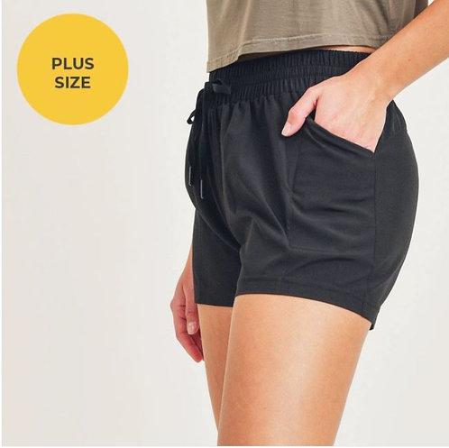 PLUS Drawstring Pocket Athleisure Short