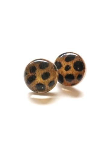 Leopard Acrylic Studs