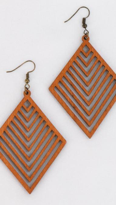 Bohemian Wooden Earrings