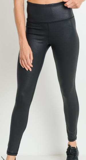 High waist Foil Scale Print Full Leggings