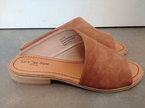 Tan Side-less Sandal