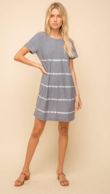 Stripe Tie Dye Jersey Dress