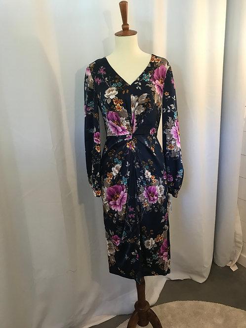 Midnight Blue Floral Dress