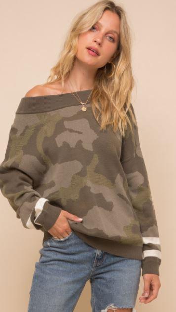 Sara's Camo Sweater