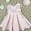 Thumbnail: Bridal Satin Pink Baby Dress