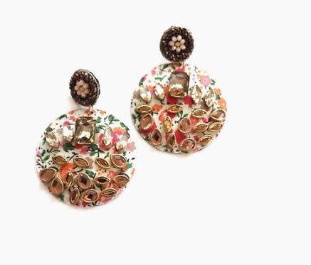 Floral Gem Earrings