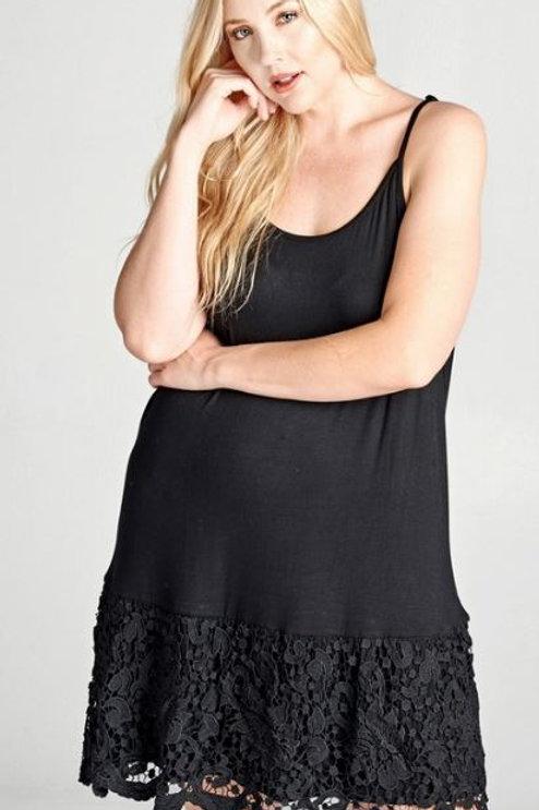 Lace Trim Strappy Dress