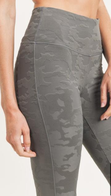 Textured Camo High Waist Leggings