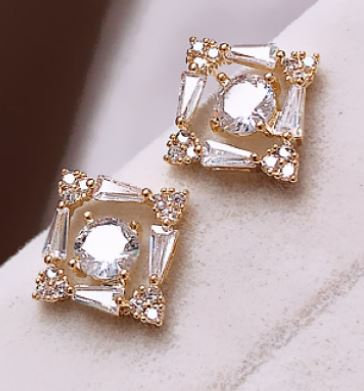 Dainty Cubic Zirconia Earrings