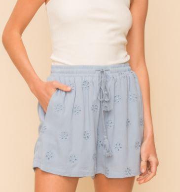 Eyelet Tassel Shorts