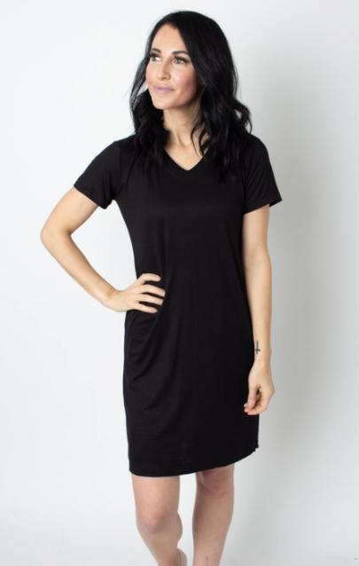 Basic Black T-shirt Dress