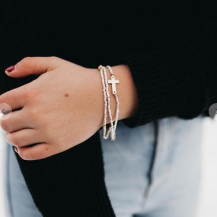 Cassie Cross Bracelet Stack