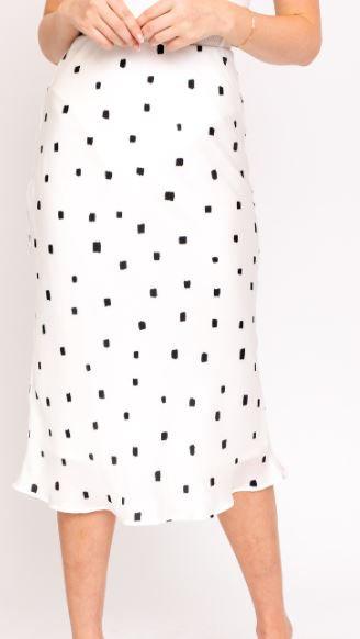 Abstract Dot Midi Skirt