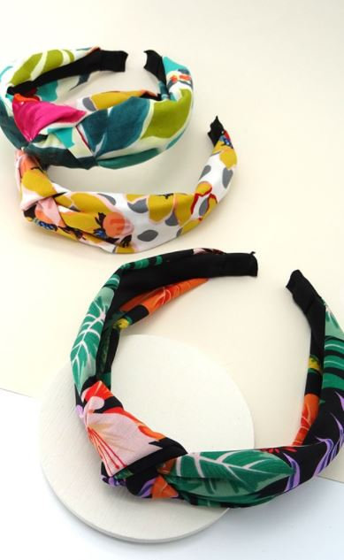 Floral Painted Wide Headband