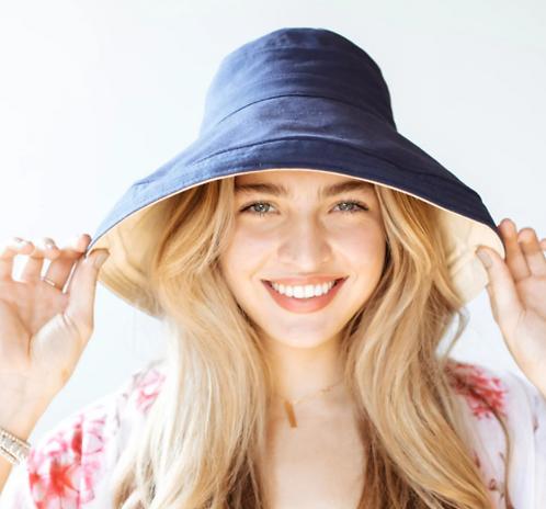 Reversible Wide Brim Canvas Sun Hat