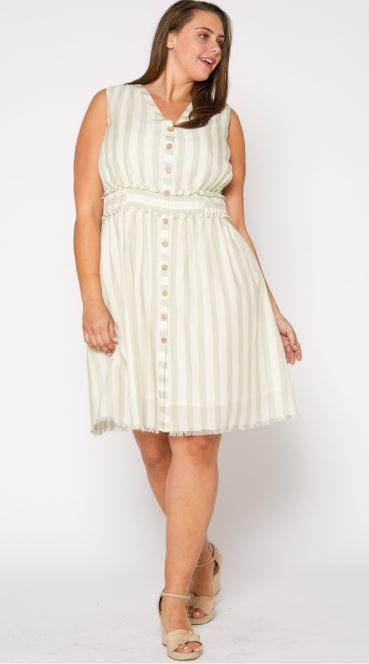Cordelia Stripe Button Down Dress