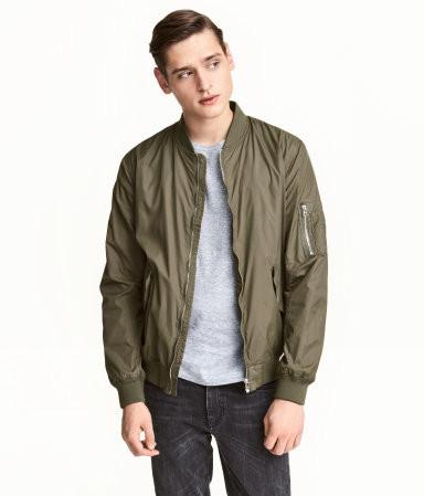 Bomber Jacket, Olive green, H&M