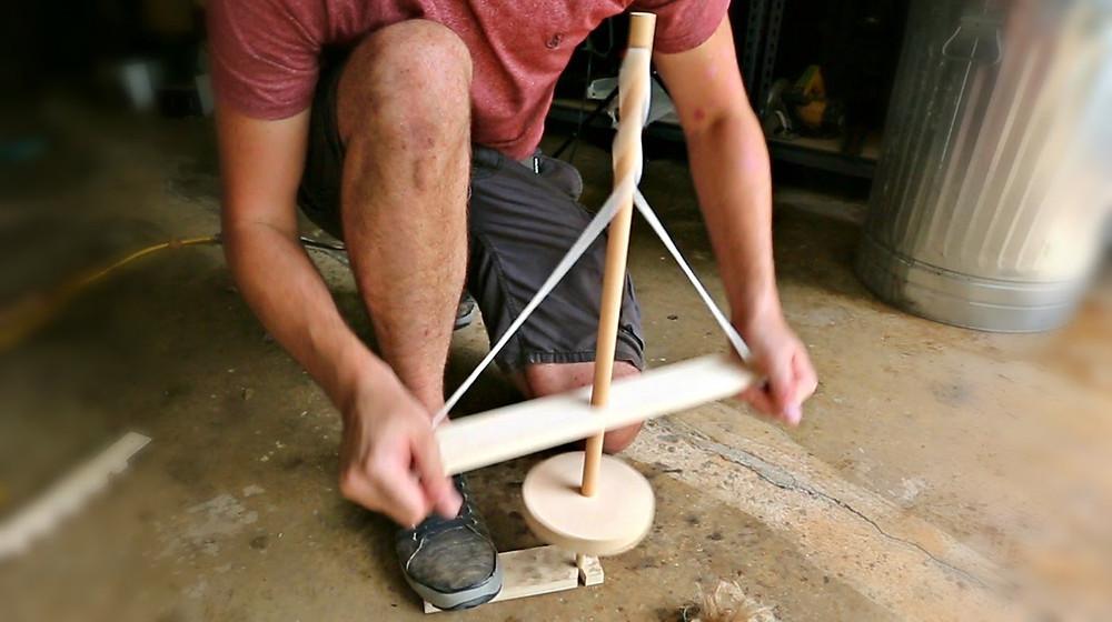 método avançado de fricção com broca e corda
