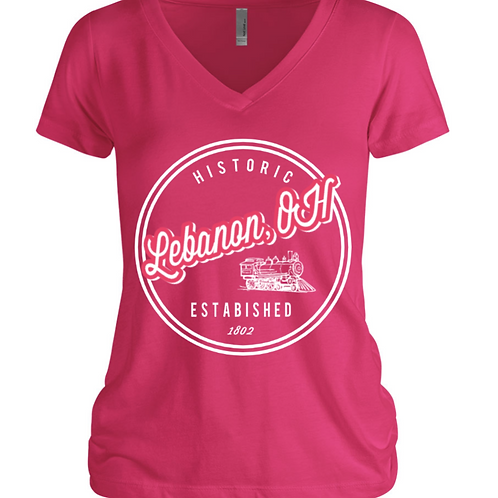 Lebanon Emblem V-Neck T-Shirt
