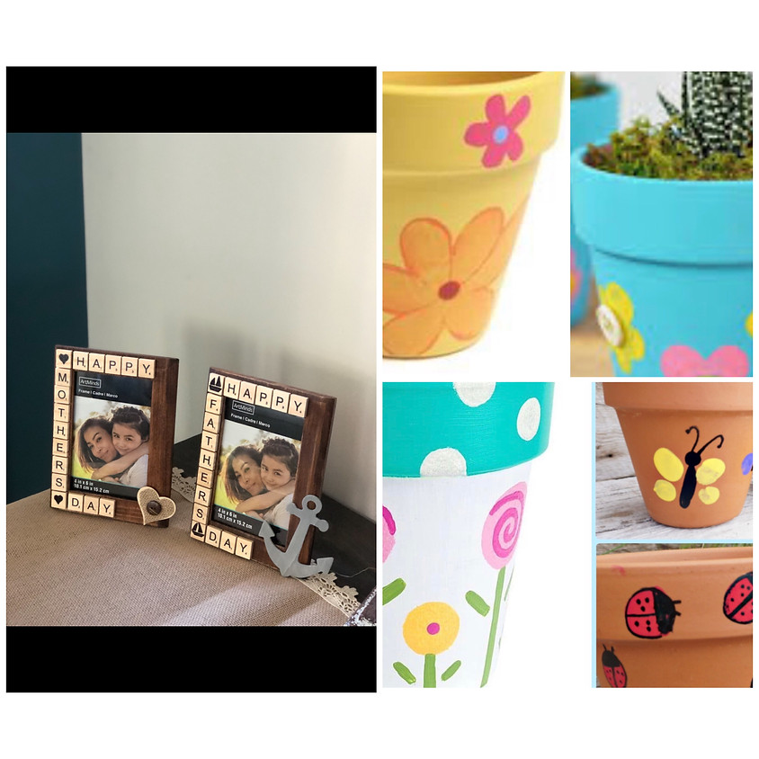 DIY Flower Pot Painting or Scrabble Photo Frame with Reclaimed Blessings