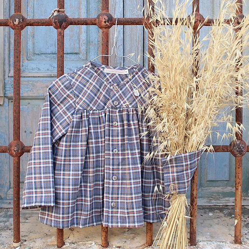 Girl'sTartan Top with Diaper Cover Set