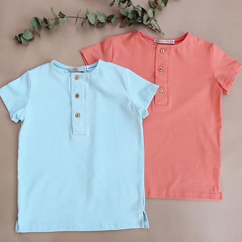 Boy's Short Sleeve Tee (Coral)