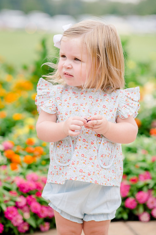 Georgia Floral Tie Back Shirt Set