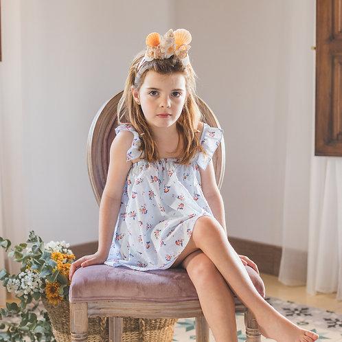 Mandil Plumeti Dress with Bloomer Set