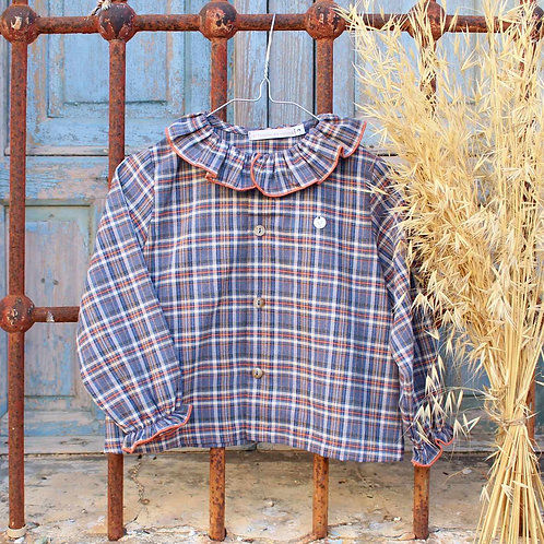 Girl's Tartan Ruffle Blouse and Diaper Cover Set