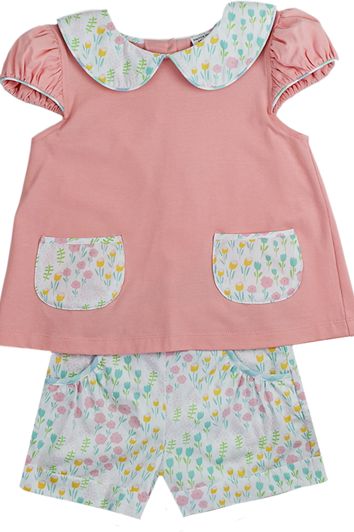 Tulips Blouse and Short Set
