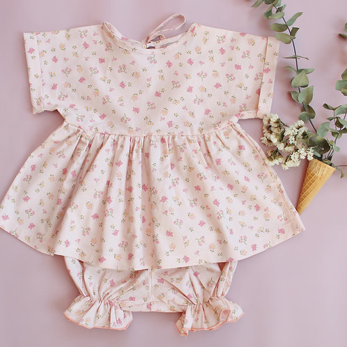 Floral Top and Bloomer Set