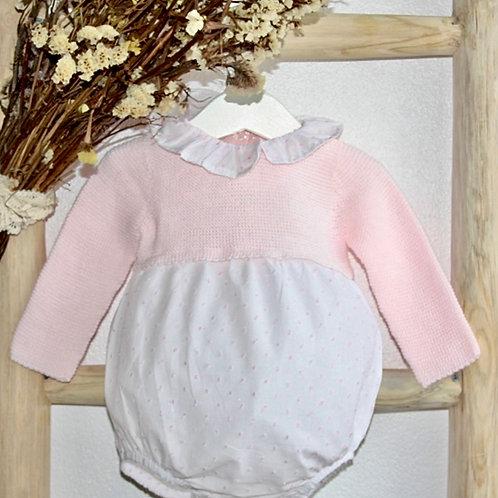 Pink Knit Plumeti Bubble