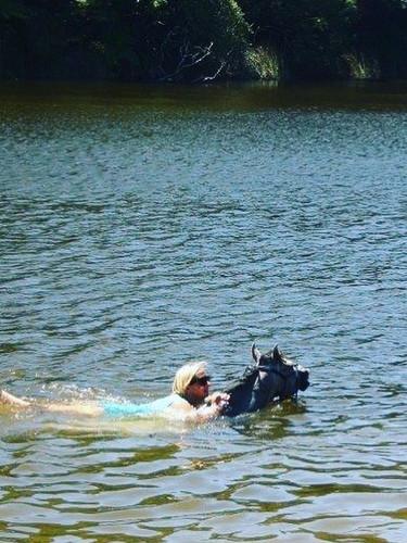 Ari LOVES to swim