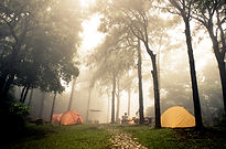 Drone tourisme camping